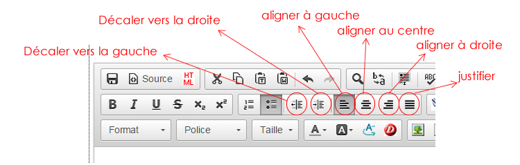 alignements de textes