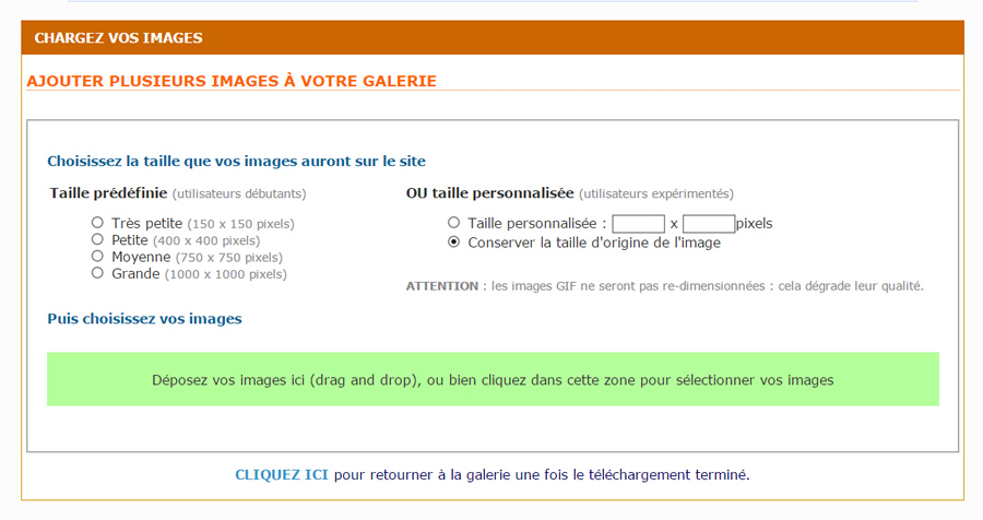 charger des images dans la galerie photo2