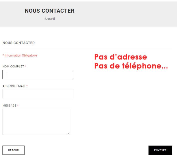 contact arnaque