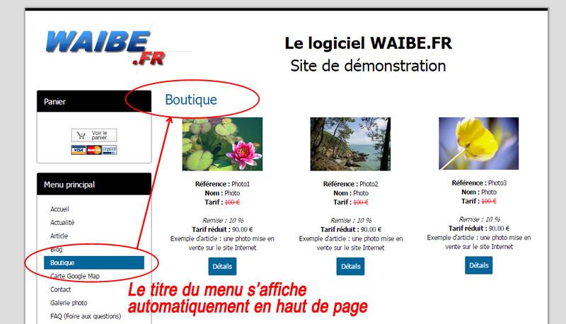 titre page automatique creation site internet responsive