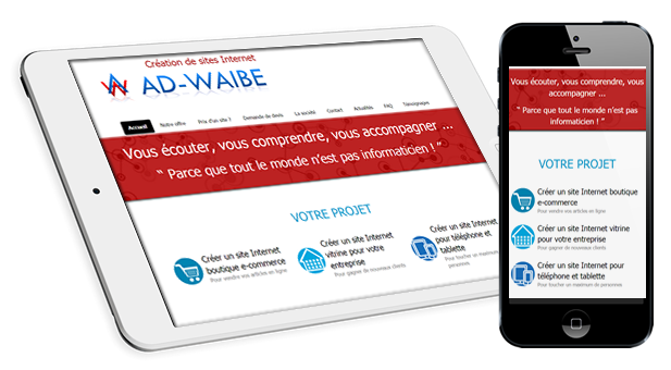 creer site web responsive